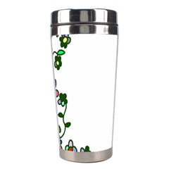 Floral Border Cartoon Flower Doodle Stainless Steel Travel Tumblers
