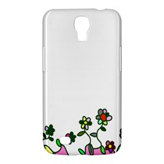 Floral Border Cartoon Flower Doodle Samsung Galaxy Mega 6 3  I9200 Hardshell Case