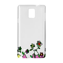 Floral Border Cartoon Flower Doodle Samsung Galaxy Note 4 Hardshell Case by Nexatart
