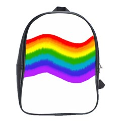 Watercolour Rainbow Colours School Bags(large)  by Nexatart