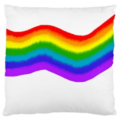 Watercolour Rainbow Colours Large Cushion Case (one Side)