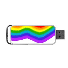 Watercolour Rainbow Colours Portable Usb Flash (one Side)