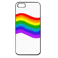 Watercolour Rainbow Colours Apple Iphone 5 Seamless Case (black) by Nexatart