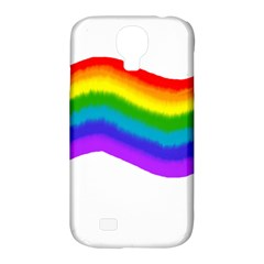Watercolour Rainbow Colours Samsung Galaxy S4 Classic Hardshell Case (pc+silicone)