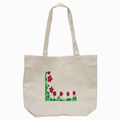 Floral Doodle Flower Border Cartoon Tote Bag (cream) by Nexatart