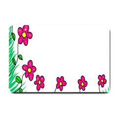 Floral Doodle Flower Border Cartoon Small Doormat