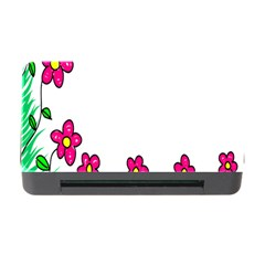 Floral Doodle Flower Border Cartoon Memory Card Reader With Cf by Nexatart