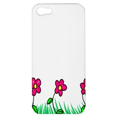 Floral Doodle Flower Border Cartoon Apple Iphone 5 Hardshell Case by Nexatart