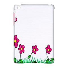 Floral Doodle Flower Border Cartoon Apple Ipad Mini Hardshell Case (compatible With Smart Cover) by Nexatart
