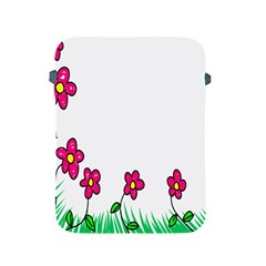 Floral Doodle Flower Border Cartoon Apple Ipad 2/3/4 Protective Soft Cases by Nexatart