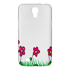 Floral Doodle Flower Border Cartoon Samsung Galaxy Mega 6 3  I9200 Hardshell Case by Nexatart