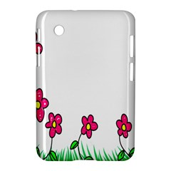 Floral Doodle Flower Border Cartoon Samsung Galaxy Tab 2 (7 ) P3100 Hardshell Case