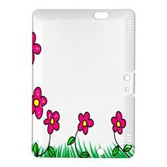 Floral Doodle Flower Border Cartoon Kindle Fire Hdx 8 9  Hardshell Case by Nexatart
