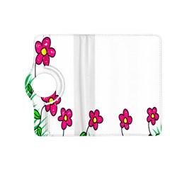Floral Doodle Flower Border Cartoon Kindle Fire Hd (2013) Flip 360 Case by Nexatart