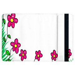 Floral Doodle Flower Border Cartoon Ipad Air 2 Flip