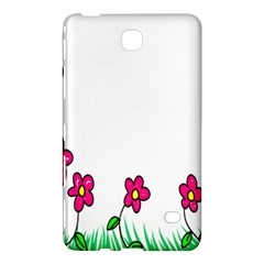 Floral Doodle Flower Border Cartoon Samsung Galaxy Tab 4 (8 ) Hardshell Case  by Nexatart