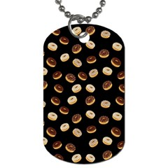 Donuts Pattern Dog Tag (two Sides) by Valentinaart