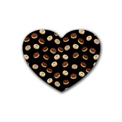 Donuts Pattern Heart Coaster (4 Pack)  by Valentinaart