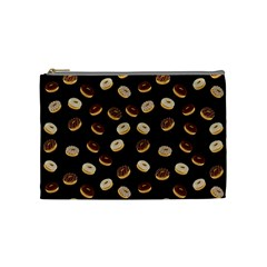 Donuts Pattern Cosmetic Bag (medium)  by Valentinaart