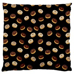 Donuts Pattern Large Flano Cushion Case (two Sides) by Valentinaart