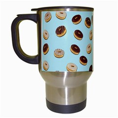 Donuts Pattern Travel Mugs (white) by Valentinaart