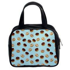Donuts Pattern Classic Handbags (2 Sides) by Valentinaart