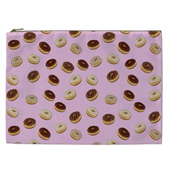 Donuts Pattern Cosmetic Bag (xxl)  by Valentinaart