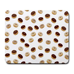 Donuts Pattern Large Mousepads by Valentinaart