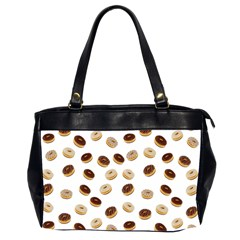 Donuts Pattern Office Handbags (2 Sides)  by Valentinaart