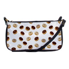 Donuts Pattern Shoulder Clutch Bags by Valentinaart