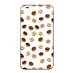 Donuts Pattern Apple Iphone 4/4s Seamless Case (black) by Valentinaart