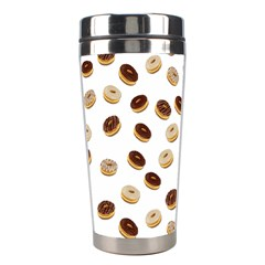 Donuts Pattern Stainless Steel Travel Tumblers by Valentinaart