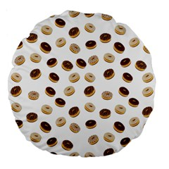 Donuts Pattern Large 18  Premium Flano Round Cushions by Valentinaart