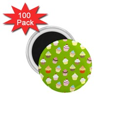 Cupcakes Pattern 1 75  Magnets (100 Pack)  by Valentinaart