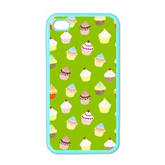 Cupcakes Pattern Apple Iphone 4 Case (color) by Valentinaart