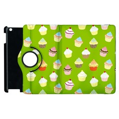 Cupcakes Pattern Apple Ipad 3/4 Flip 360 Case by Valentinaart