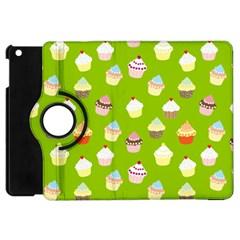 Cupcakes Pattern Apple Ipad Mini Flip 360 Case by Valentinaart
