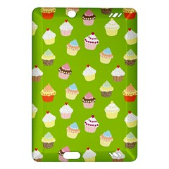 Cupcakes Pattern Amazon Kindle Fire Hd (2013) Hardshell Case by Valentinaart