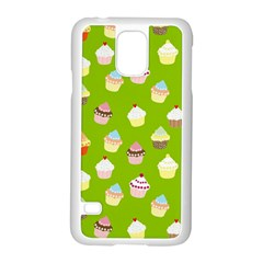 Cupcakes Pattern Samsung Galaxy S5 Case (white) by Valentinaart