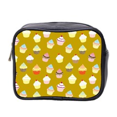 Cupcakes Pattern Mini Toiletries Bag 2 Side by Valentinaart
