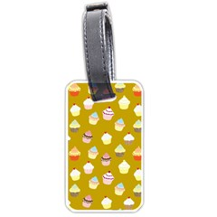 Cupcakes Pattern Luggage Tags (one Side)  by Valentinaart