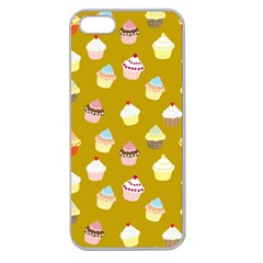 Cupcakes Pattern Apple Seamless Iphone 5 Case (clear) by Valentinaart