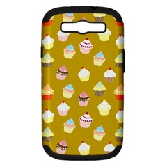 Cupcakes Pattern Samsung Galaxy S Iii Hardshell Case (pc+silicone) by Valentinaart