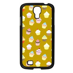 Cupcakes Pattern Samsung Galaxy S4 I9500/ I9505 Case (black) by Valentinaart