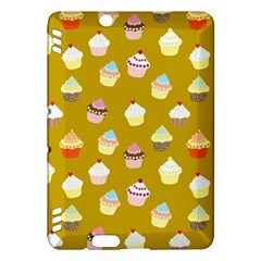 Cupcakes Pattern Kindle Fire Hdx Hardshell Case by Valentinaart