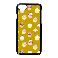 Cupcakes Pattern Apple Iphone 7 Seamless Case (black) by Valentinaart