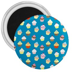 Cupcakes Pattern 3  Magnets by Valentinaart