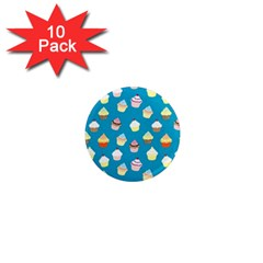 Cupcakes Pattern 1  Mini Magnet (10 Pack)  by Valentinaart