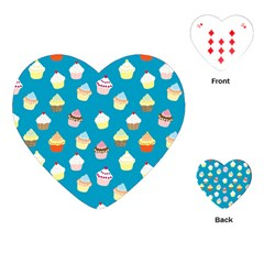 Cupcakes Pattern Playing Cards (heart)  by Valentinaart