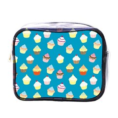 Cupcakes Pattern Mini Toiletries Bags by Valentinaart